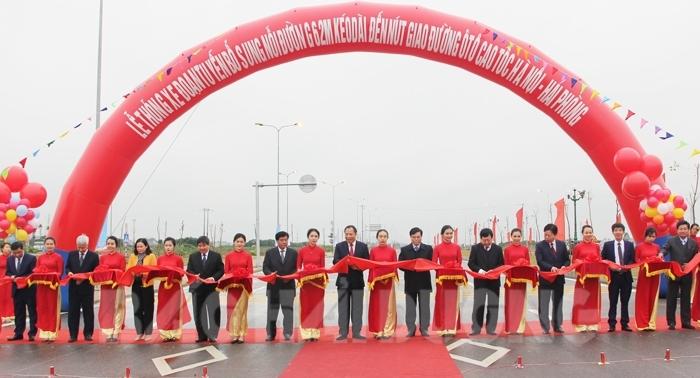 Kết quả hình ảnh cho dự án đoạn đường 62m kéo dài đến nút giao đường ô tô cao tốc Hà Nội – Hải Phòng và đường trục Bắc - Nam