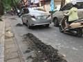 Thi công không hoàn trả mặt đường, VNPT đẩy người tham gia giao thông đối diện với nguy hiểm