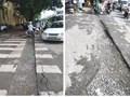 Điện lực hoàn trả mặt đường ẩu, ảnh hưởng đến người tham gia giao thông