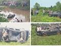 Phát hiện 3 thi thể trong chiếc ô tô Mercedes nằm dưới lòng kênh