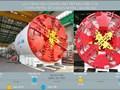 ''Quái vật'' đào ngầm đường sắt Nhổn - ga Hà Nội đã lắp ráp xong và trên đường về Hải Phòng