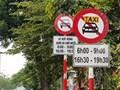 Công an TP Hà Nội vẫn sẽ khôi phục biển cấm xe taxi, xe hợp đồng trên 10 tuyến đường