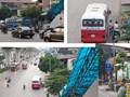 Nhiều vi phạm dừng đỗ, trật tự đô thị tại khu vực số 890 Quang Trung (Hà Đông)
