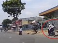 [Clip] Hai tên cướp giật điện thoại, kéo lê tài xế GoViet trên đường