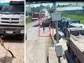 Đồng Nai: Tài xế vác dao đuổi chém nhân viên trạm thu phí BOT đường chuyên dụng mỏ đá Tân Cang