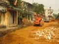 Thi công đường giao thông tại thị trấn Quốc Oai: Chủ đầu tư xin rút kinh nghiệm