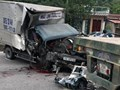 Thanh Hoá: Húc vào đuôi xe rơ-moóc, phụ xe tải đứt lìa cánh tay