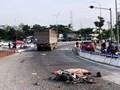 Tài xế xe tải đâm chết người rồi bỏ chạy