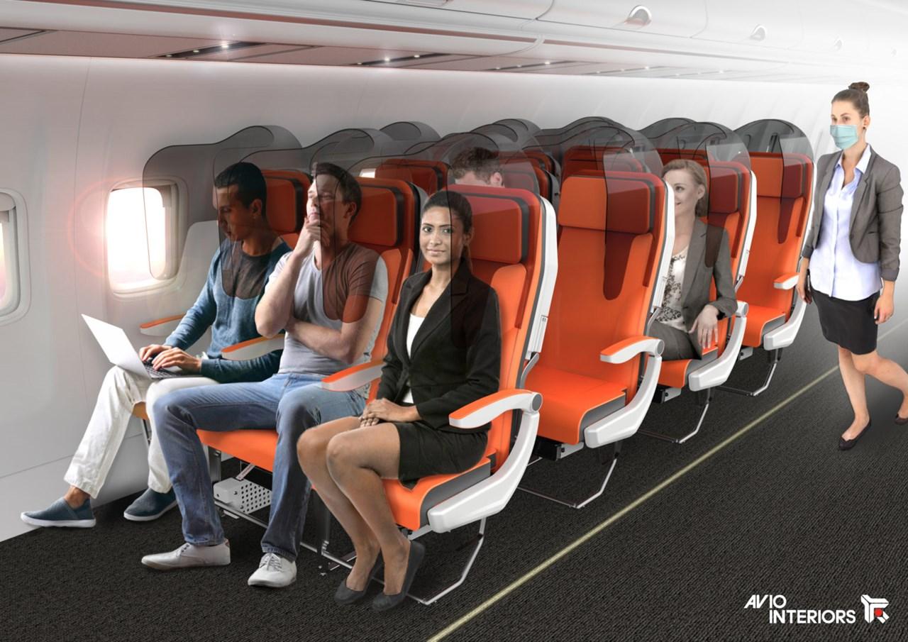 'Tấm chắn an toàn' giữa mỗi ghế ngồi