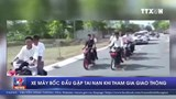 Bốc đầu xe khi tham giao thông, nam thanh niên gặp nạn