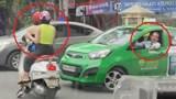 Clip: Hai cô gái dừng đèn đỏ giữa đường đôi co với tài xế taxi