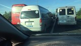 Tông xe liên hoàn trên cao tốc, giao thông ùn tắc nghiêm trọng