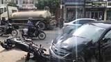 Quảng Ninh: Ô tô con tông đuôi xe bồn gây tai nạn liên hoàn