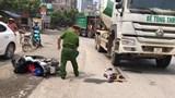 Hà Nội: Nam sinh bị xe bồn đâm ở cầu vượt An Khánh