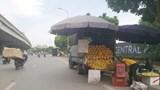 """Hàng loạt """"sạp hàng di động"""" trên đường Nguyễn Xiển"""