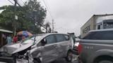 Bình Dương: Xe container tông hàng loạt xe con trên quốc lộ