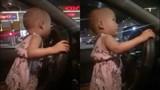 Truy tìm lái xe để bé gái cầm lái ô tô