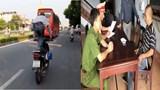 """Xử phạt người đàn ông chạy xe máy """"diễn xiếc"""" trên đường phố"""