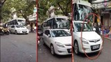 Đỗ xe ngay ngã ba phố Tạ Hiện gây ùn tắc, trung uý công an bị phạt 1 triệu đồng