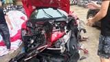 Siêu xe của ca sĩ Tuấn Hưng gặp nạn trên cao tốc Nội Bài - Lào Cai