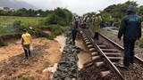 Đường sắt thiệt hại nặng do cơn bão số 9
