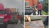 Đà Nẵng: Tài xế container dùng hung khí đe dọa đồng nghiệp giữa đường