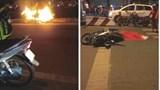"""TP Hồ Chí Minh: Tai nạn liên hoàn, tự đốt xe máy trong đêm """"đi bão"""" mừng chiến thắng AFF Cup 2018"""