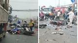 Xe container đâm hàng loạt xe máy dừng đèn đỏ, ít nhất 3 người tử vong