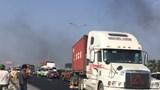Xe container tông tử vong công nhân làm đường trên cao tốc Pháp Vân - Cầu Giẽ