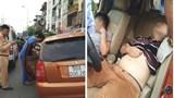 Đưa 2 thanh niên bất tỉnh trong chiếc ô tô loạng choạng vào viện cấp cứu