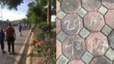 Nữ lao công tử vong bên vệ đường: Nghi vấn dòng chữ ghi biển số xe trên vỉa hè
