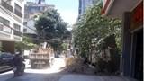 Nhếch nhác trên phố Tô Ngọc Vân, vật liệu xây dựng chắn lối người đi bộ