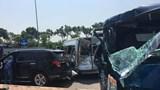 Hà Nội: Tai nạn liên hoàn ở Đông Anh, 2 người bị thương