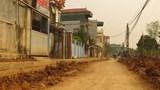 Xây dựng đường giao thông xã Khánh Hà, huyện Thường Tín: Chất lượng thi công có vấn đề