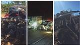 Xe bán tải nát bét đầu sau tai nạn khiến 3 người tử vong