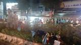 Thanh niên bay qua dải phân cách sau va chạm giao thông tiếp tục bị ô tô tông trúng