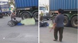 2 cháu bé tử vong thương tâm dưới gầm xe container sau va chạm giao thông