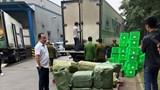 Bắt giữ 2 xe container chở thực phẩm nhập lậu tại Siêu thị MM Mega Market