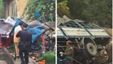 Xe tải bẹp dúm sau khi lao xuống vực, 3 người tử vong