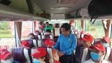 6 chuyến xe công đoàn đưa công nhân ở Quảng Nam về quê đón Tết