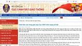 Cảnh báo các trang giả mạo Cục Cảnh sát giao thông trên mạng xã hội