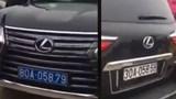 Cục CSGT xác định xe Lexus đầu đeo biển xanh, đuôi đeo biển trắng giả