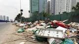 Hà Nội: Đường Nguyễn Văn Huyên kéo dài ngập trong rác