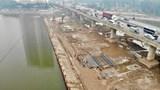 Hà Nội: Toàn cảnh công trường dự án xây dựng 2 cầu qua hồ Linh Đàm