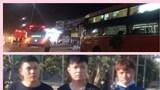 Thù tức sau va chạm giao thông, 3 thanh niên bắn vỡ kính hàng loạt xe khách