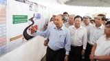Thủ tướng Nguyễn Xuân Phúc kiểm tra tiến độ thi công cao tốc Trung Lương - Mỹ Thuận