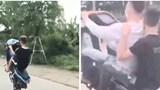 """Hà Nội: Nam thanh niên đi xe máy """"diễn xiếc"""" trên đường bị phạt hơn 4 triệu đồng"""