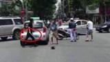 Dùng dao đâm chết người sau va chạm giao thông