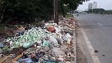 """Đường gom Đại lộ Thăng Long nguy cơ trở thành bãi rác """"khổng lồ"""""""
