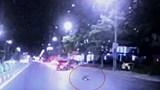 Nghệ An: Nữ công nhân dọn vệ sinh bị ô tô tông văng hàng chục mét